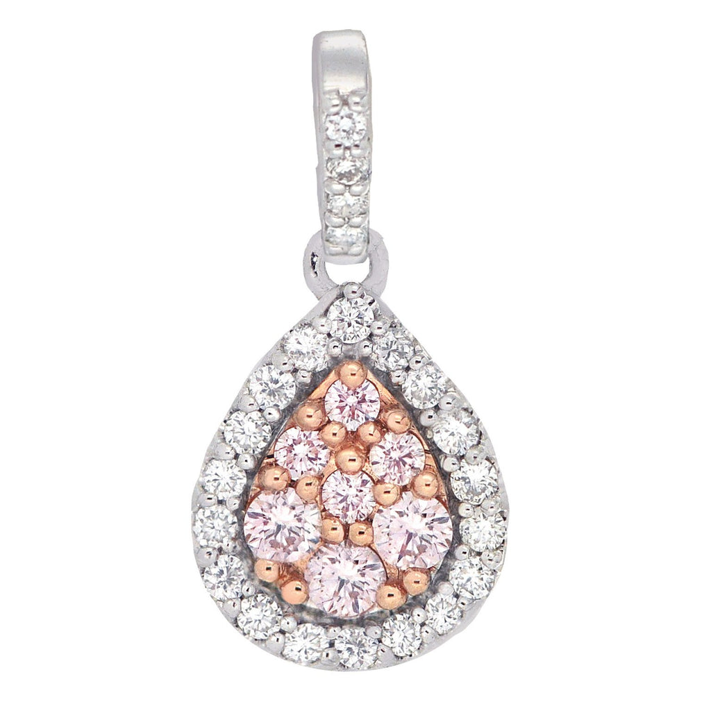 18ct White gold Pink Argyle Diamond Pendent