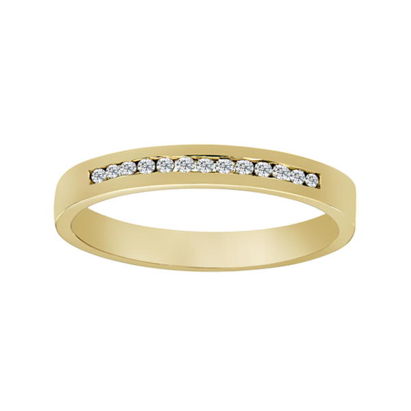 9ct Gold 0.10ct Diamond Wedding Band