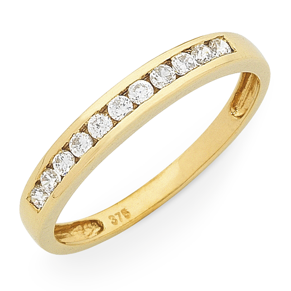 9ct Gold 1/4ct TDW Diamond Channel Set Ring