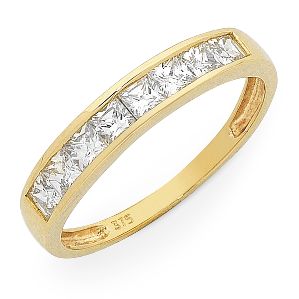 9ct Gold Cubic Zirconia Ring