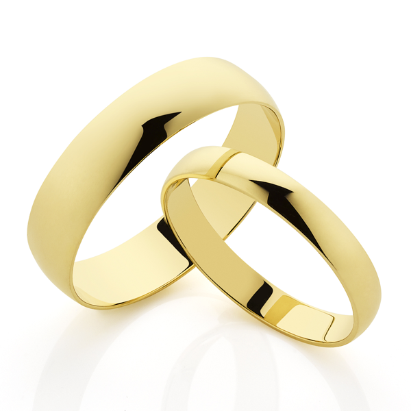 9ct gold 6mm Half Round Wedding Band