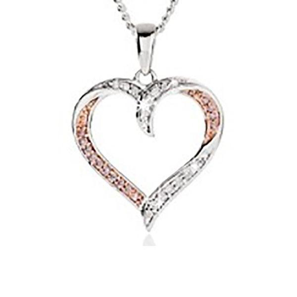 Desert Diamonds Pink & White Diamond Heart