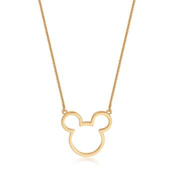 Disney Precious Metal Mickey Mouse Outline Necklace
