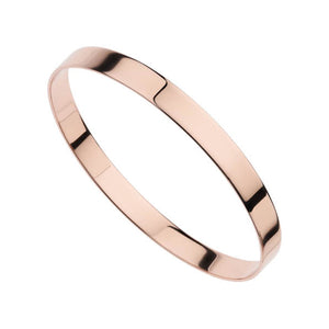 Najo Ribbon (7mm) Bangle (Rose) (65mm)