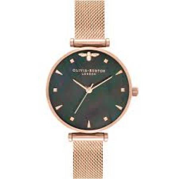 Olivia Burton MOP Dial Rose Gold Bee Watch