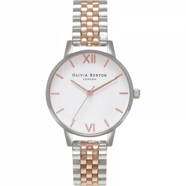 Olivia Burton Rose Gold and Silver Bracelet Watch