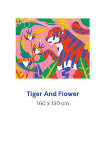 Tiger and Flower