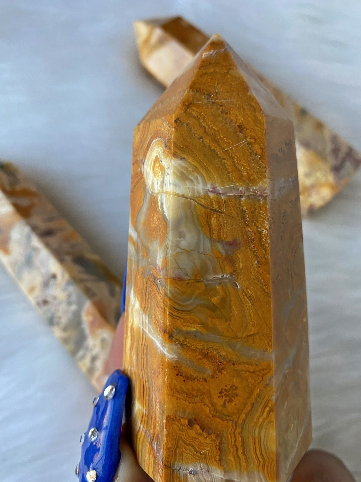 Yellow Crazy Lace Agate