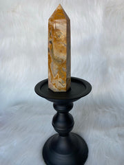 Yellow Crazy Lace Agate Tower A