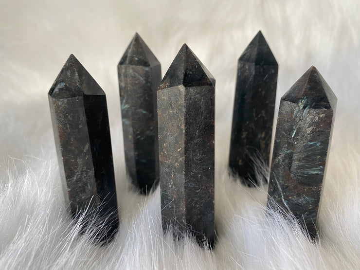 "Astrophyllite ""Firework"" Towers - The Black Unicorn"
