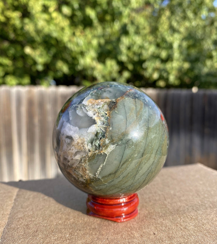African Bloodstone Sphere - The Black Unicorn
