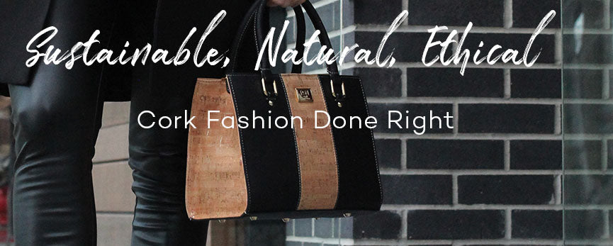 cork handbags and purses made in portugal sustainable vegan fashion