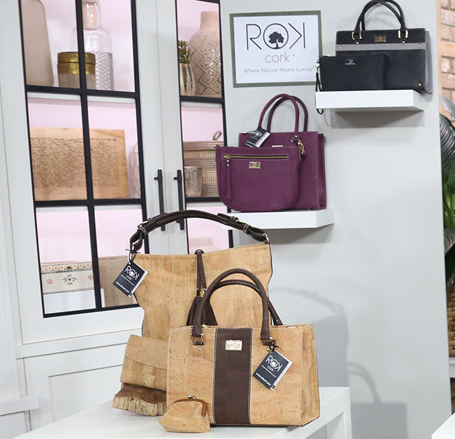 cork handbags made in portugal as seen on the Marilyn Denis show