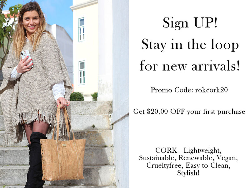 Sign up for our newsletter to hear about our newest cork products