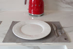 table placemats vegan and eco friendly in grey cork
