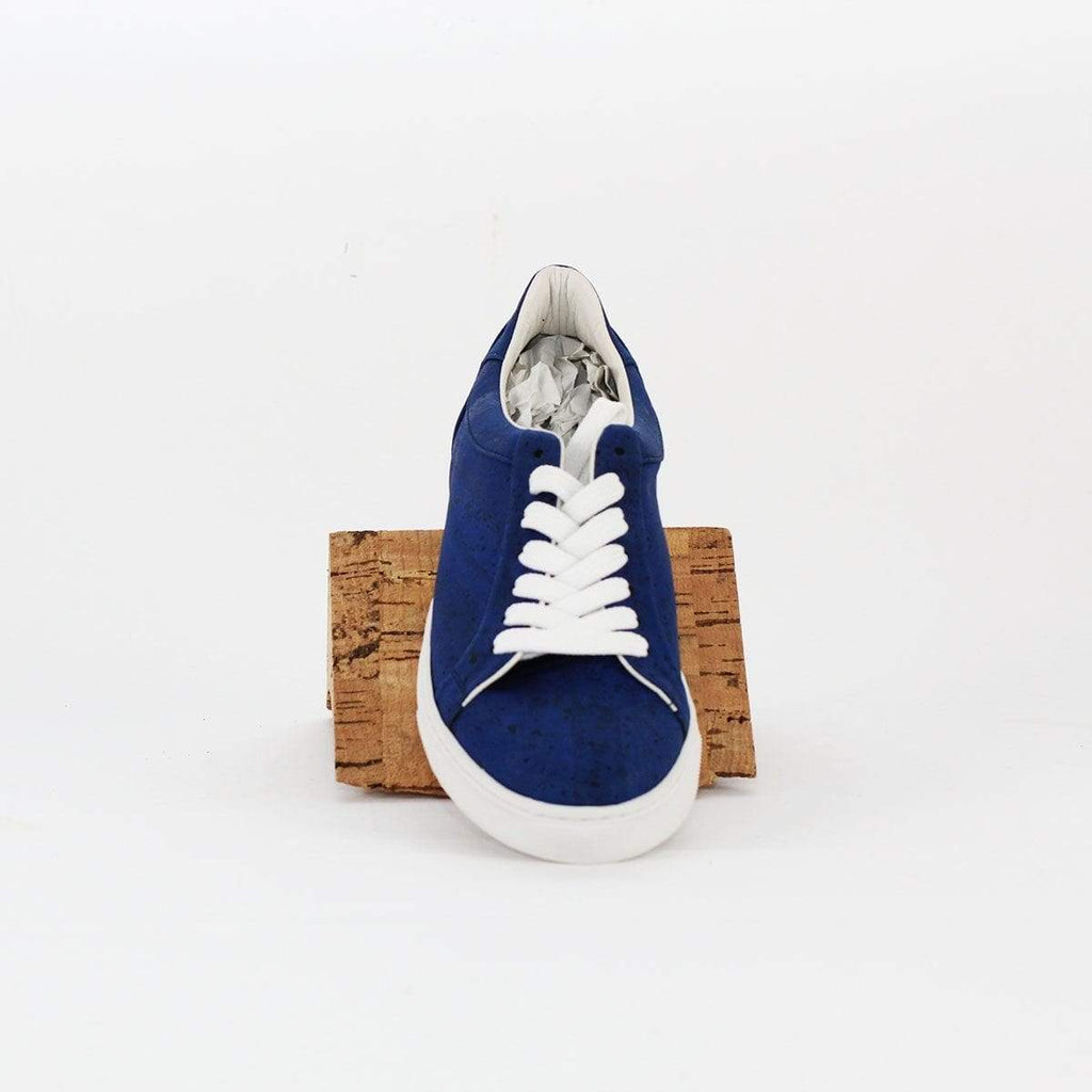 VEGAN SNEAKERS SHOES CORK BLUE