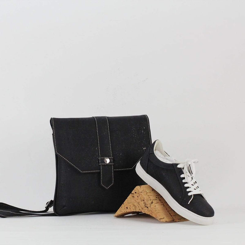 UNISEX CORK SNEAKERS BLACK - [rokcork]