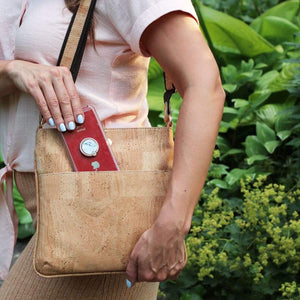 cork vegan crossbody made in portugal stylish purse