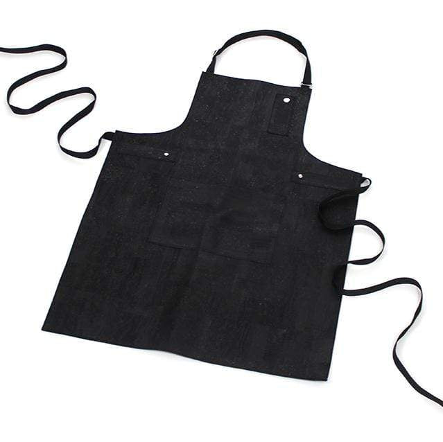 black cork chefs apron vegan