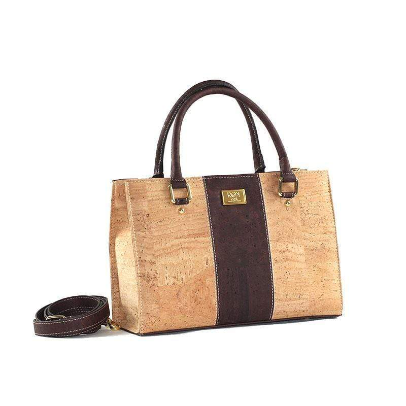 cork purse in natural and brown cork beautiful details