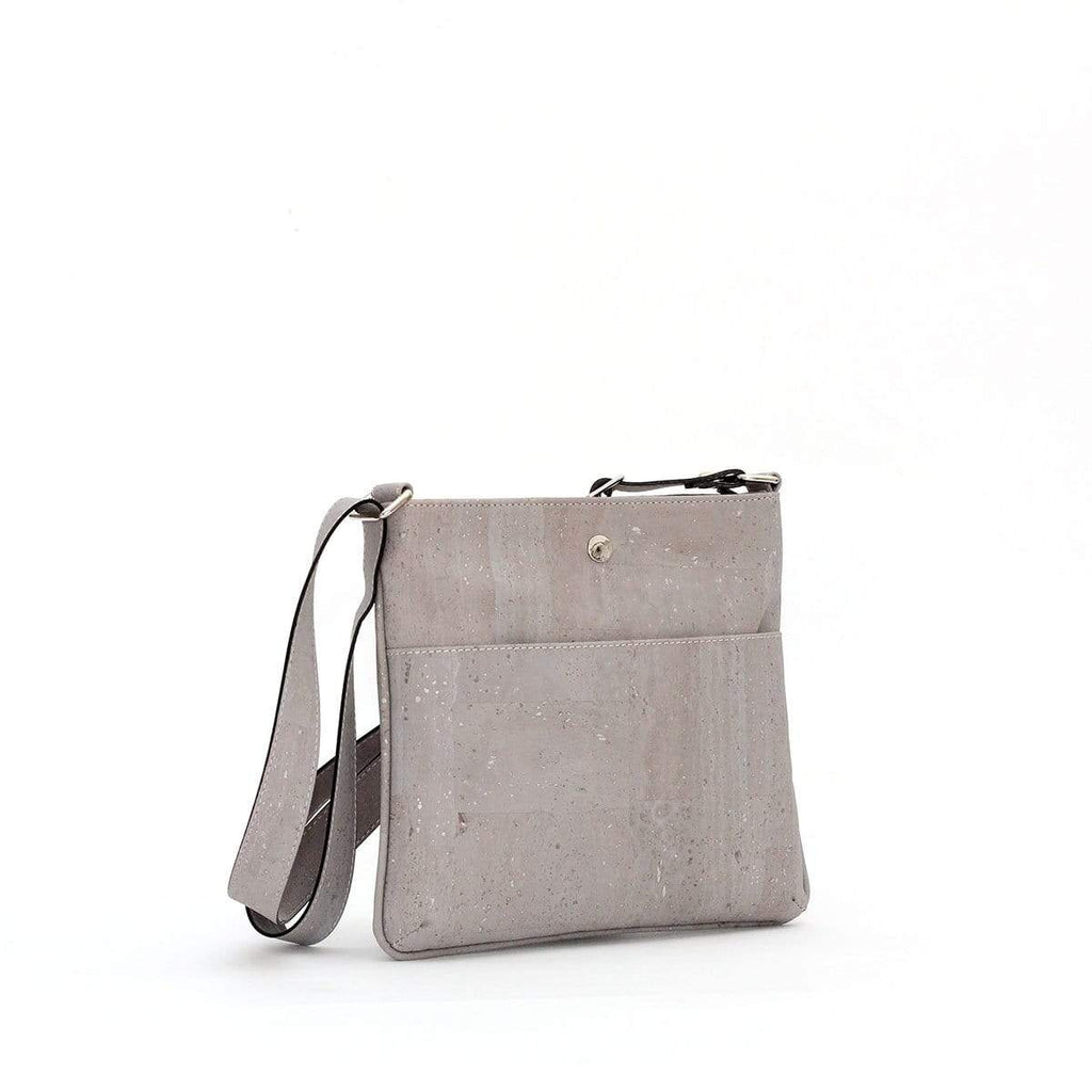 cork crossbody purse in slate grey sustainable fashion made in portugal