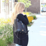 Julia Luxe Hobo Bag | Black