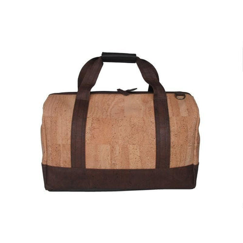 Lisbon Travel Cork Bag | Natural Brown Combination - [rokcork]