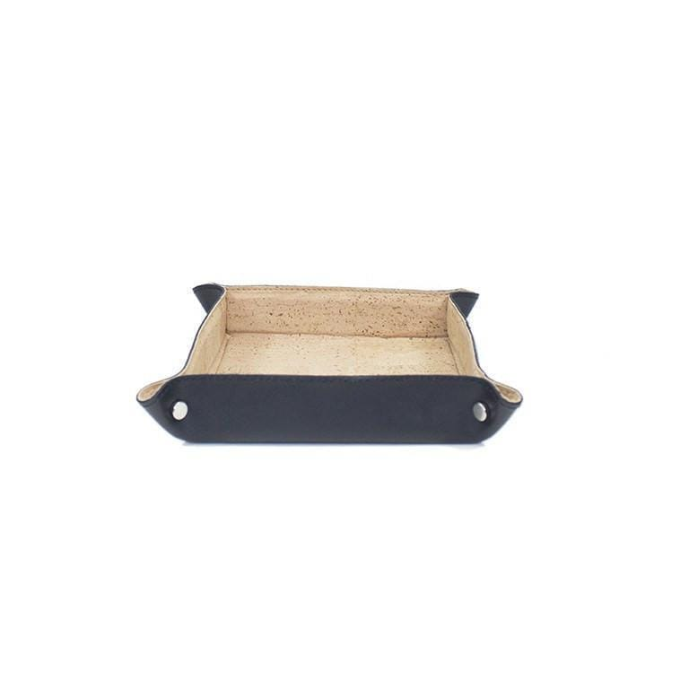 Leon Luxe Valet Tray | Natural and Black - [rokcork]