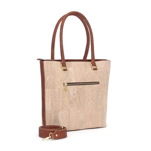 cork purse handbag in natural cork leather vegan and sustainable