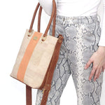 Marge Medium Cork Tote | Nautical - [rokcork]