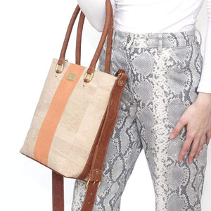 stylish cork medium tote for the chic and timeless woman