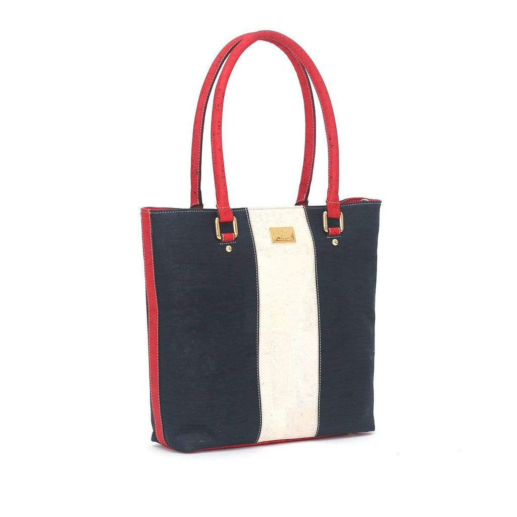 gorgeous cork purse in red white and blue made in portugal