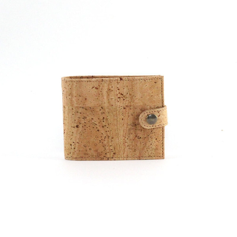 Cork wallet for men, slim bifold wallet Black