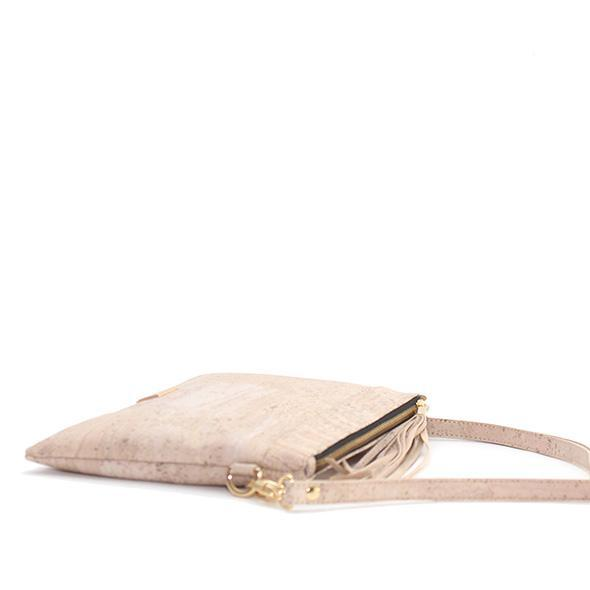 Cork handbag with clutch option and removable shoulder strap