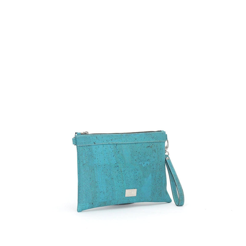 Medlyn Cork Convertible Clutch  | Turquoise - [rokcork]