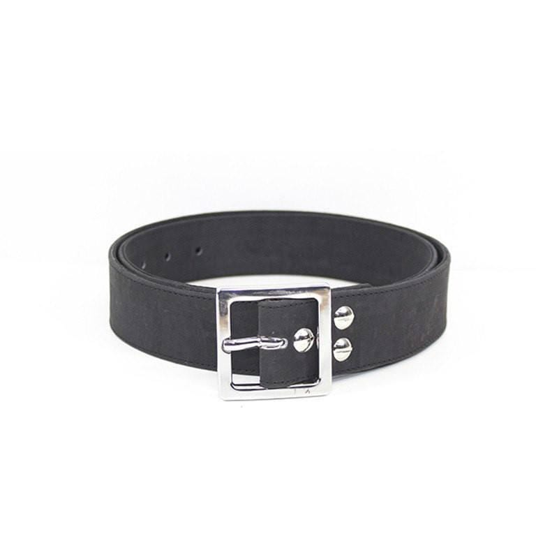 Mens Accessories - Handmade Cork Men's Belt Black