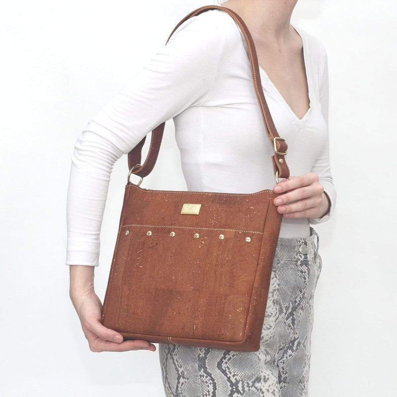 SNOW Cork Messenger Purse | Natural - [rokcork]
