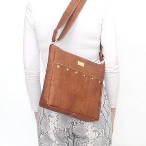 SNOW Cork Messenger Purse | Natural