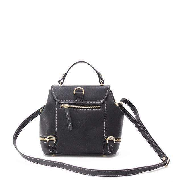 Suzy Q Cork Mini Backpack | Black - [rokcork]