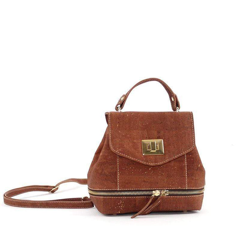 Suzy Q Mini Cork Backpack | Camel Ladies Handbags Rok Cork