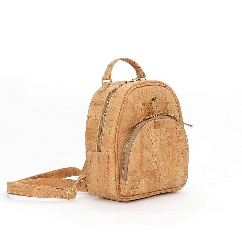 natural cork backpack vegan trendy sustainable purses