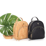 Taylor Small Cork Backpack | Black - [rokcork]