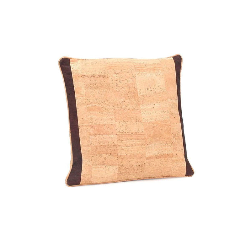 Tommy Cork Pillow Side Stripes | Natural Brown - [rokcork]