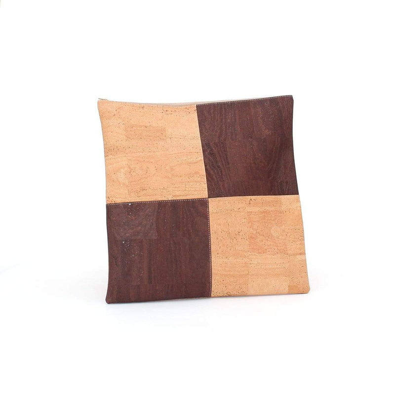 Tommy Cork Pillow Checker | Natural Brown - [rokcork]