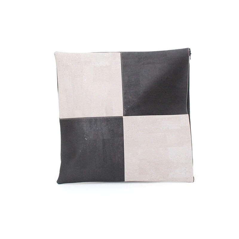 Tommy Cork Pillow Checker | Black Grey - [rokcork]