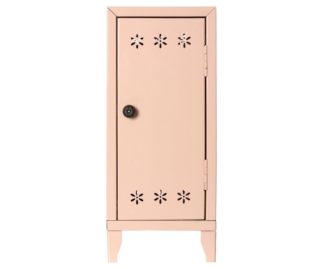Miniature Locker with 3 Hangers - Powder Pink