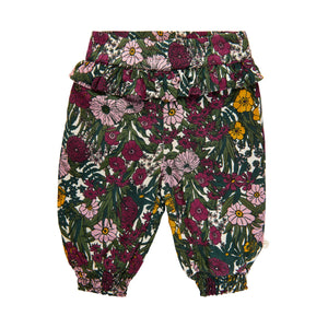 Floral Pants - Purple Fog