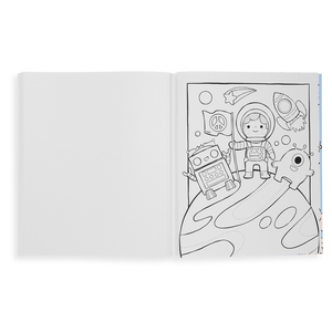 Outer Space Explorers Color-In' Book