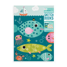 Load image into Gallery viewer, Friendly Fish Doodle Pad Duo Sketchbooks-Set of 2