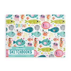 Friendly Fish Doodle Pad Duo Sketchbooks-Set of 2